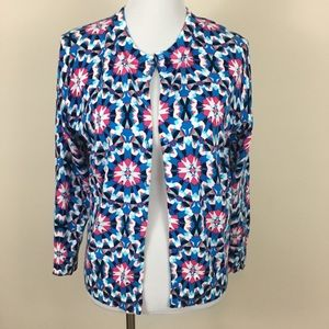 NWT Crown & Ivy Blue Kaleidoscope Cardigan Sweater